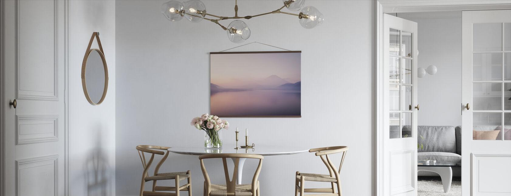 Mt. Fuji over a Foggy Lake - Poster - Kitchen