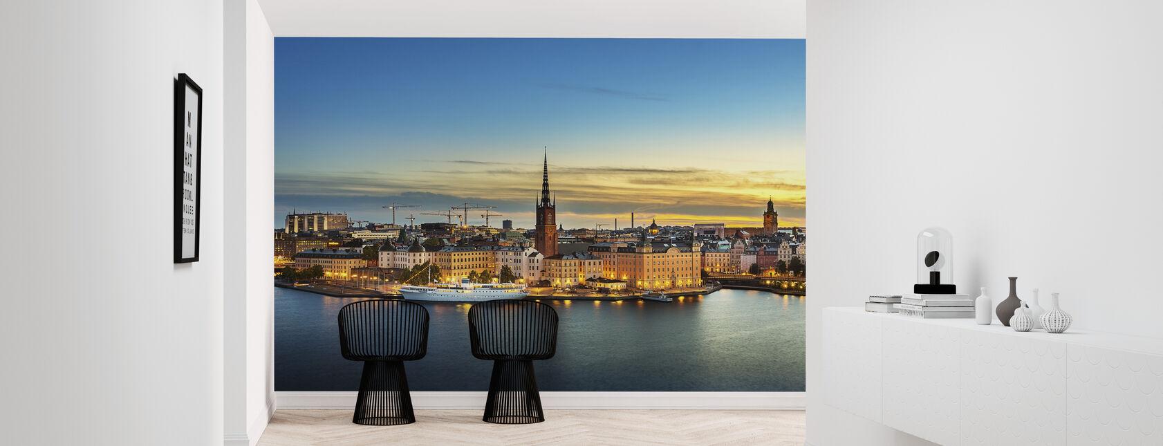 Sunset Over Riddarholmen Stockholm - Wallpaper - Hallway