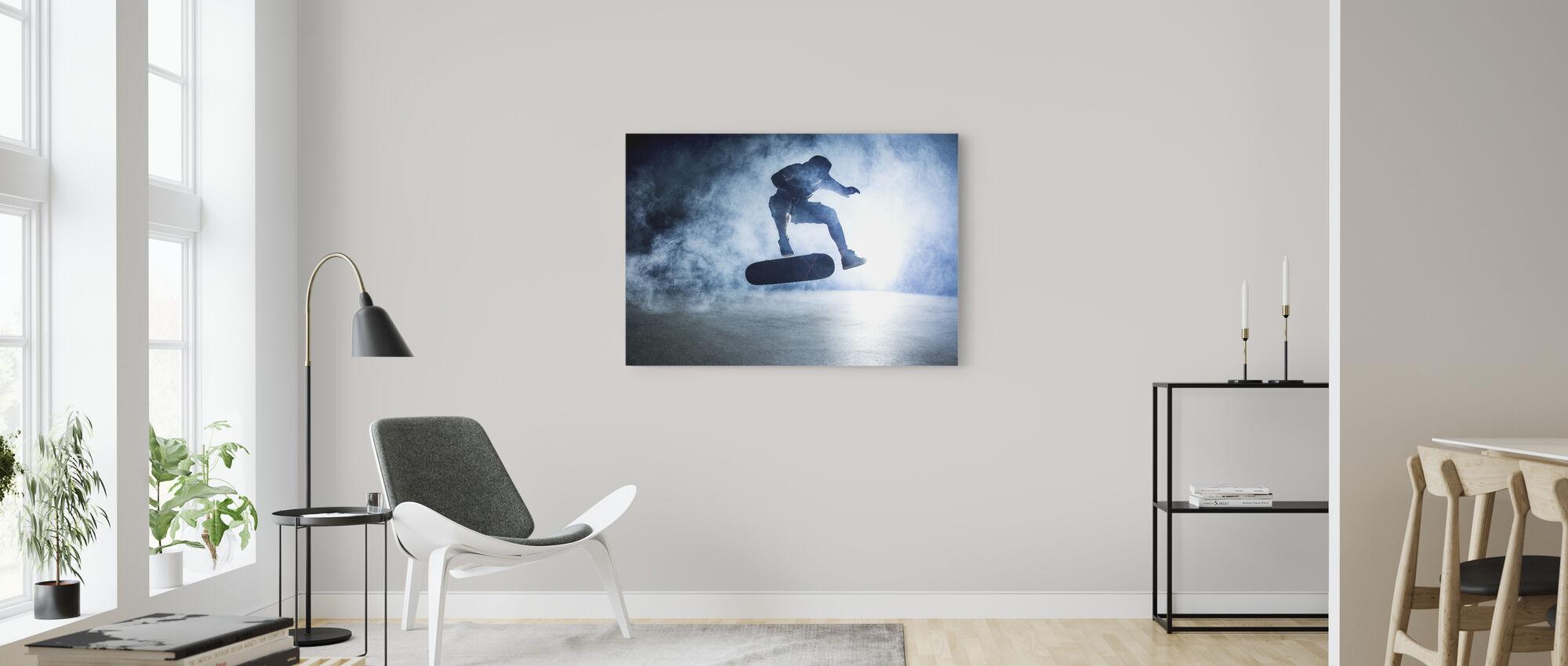Skateboard Trick - Canvas print - Living Room