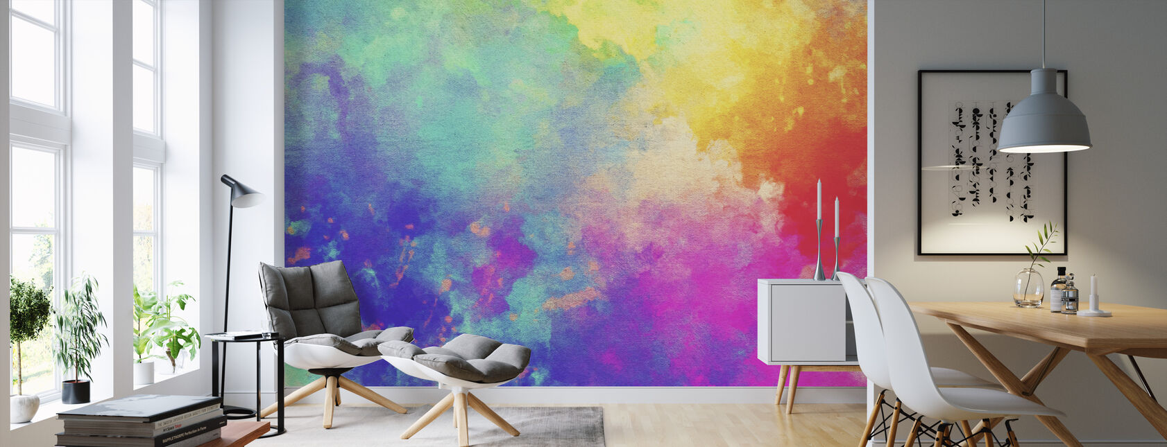 Watercolor Textured Background - Wallpaper - Living Room