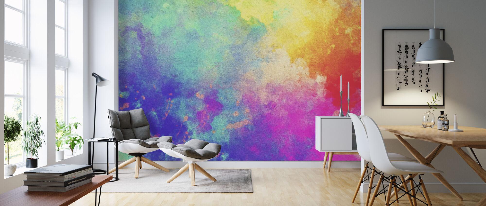 Watercolor Textured Background - Wallpaper - Living Room