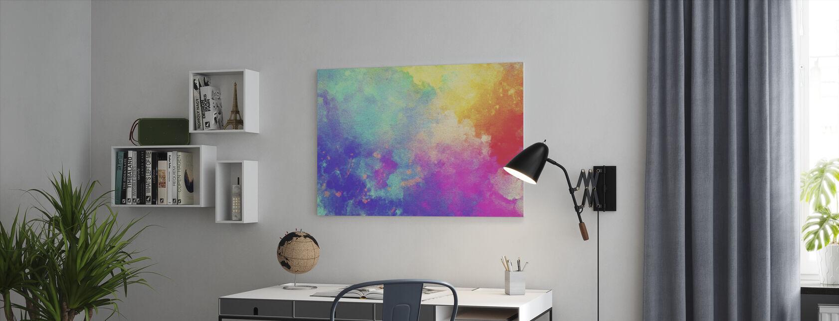 Aquarel Getextureerde Achtergrond - Canvas print - Kantoor
