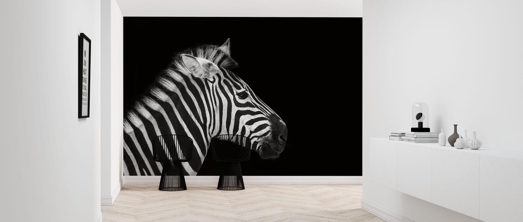 Zebra Portrait - Wallpaper - Hallway