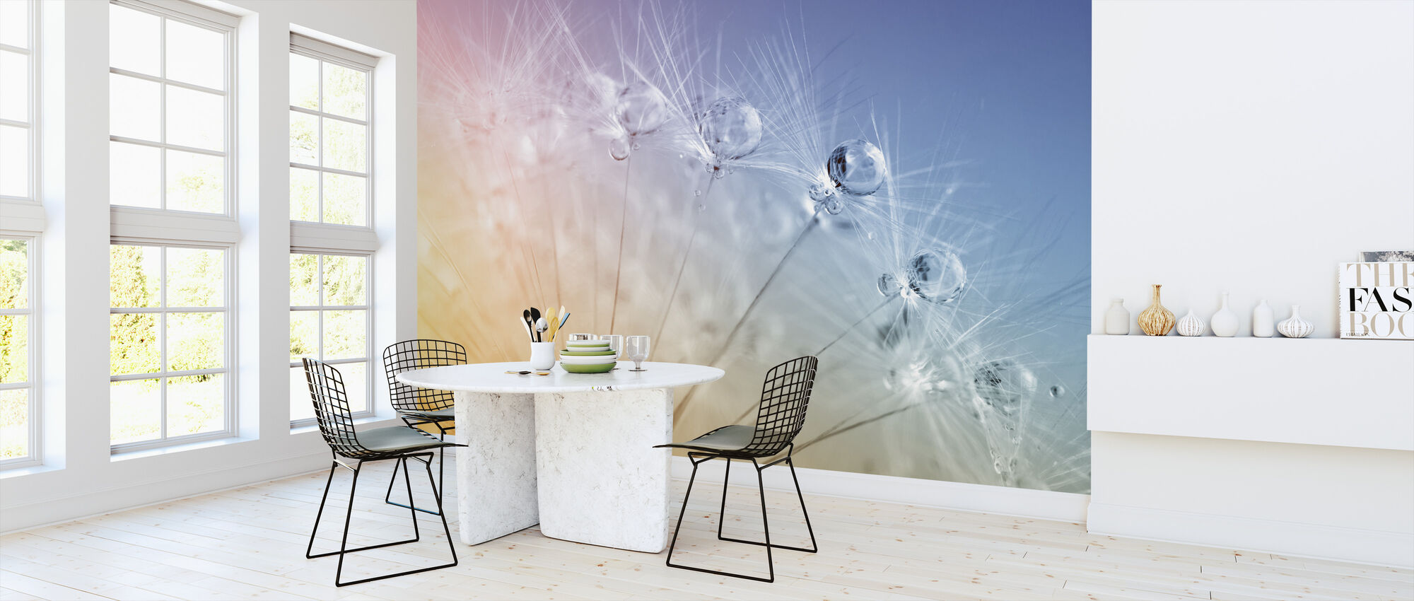 Drops on Dandelion Seed - Wallpaper - Kitchen