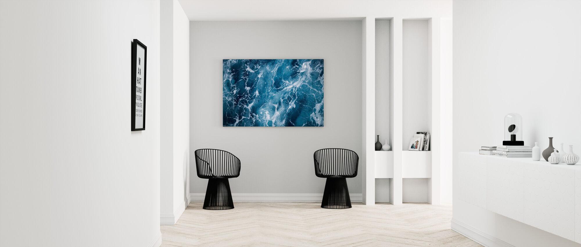 Deep Sea Foaming - Canvas print - Hallway