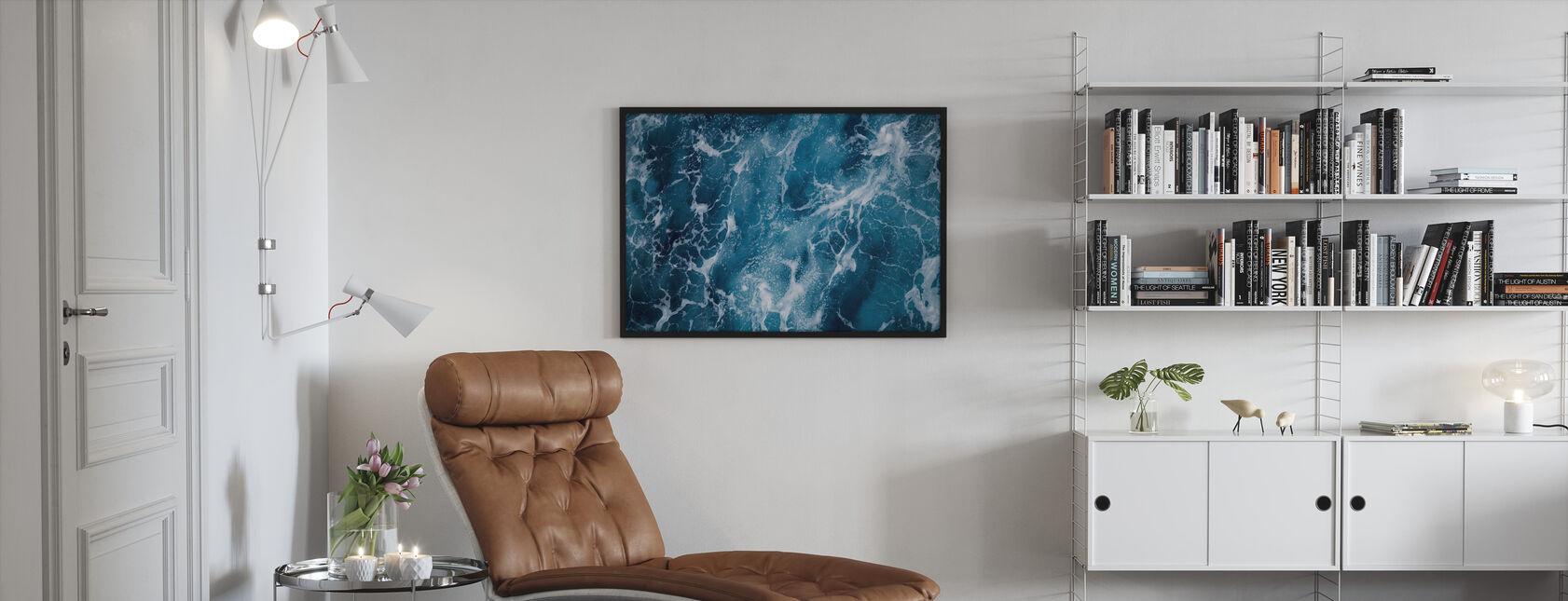 Tiefseeschäumung - Gerahmtes bild - Wohnzimmer