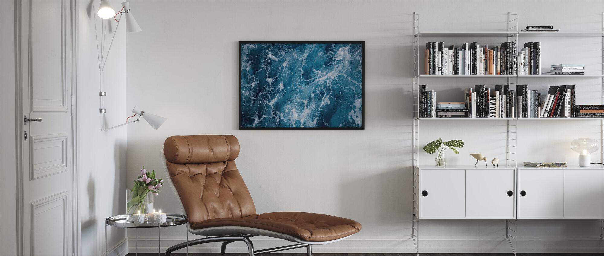 Diepe Zee Schuimend - Ingelijste print - Woonkamer