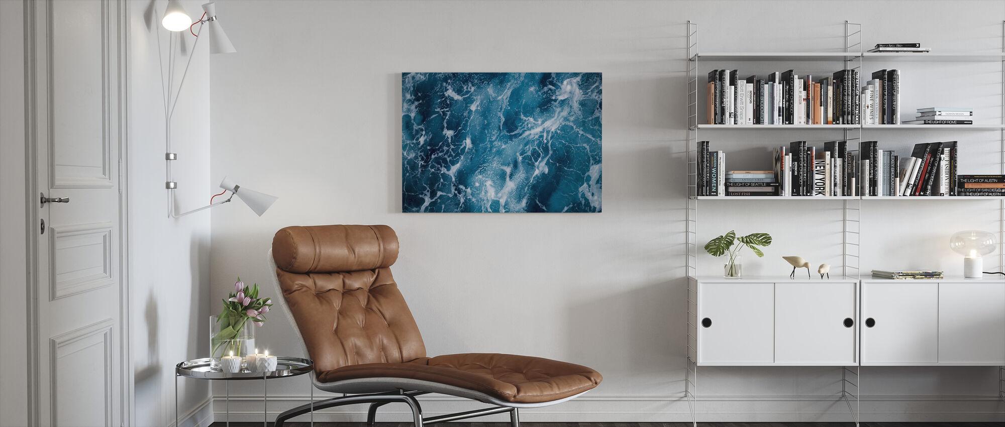 Deep Sea Foaming - Canvas print - Living Room