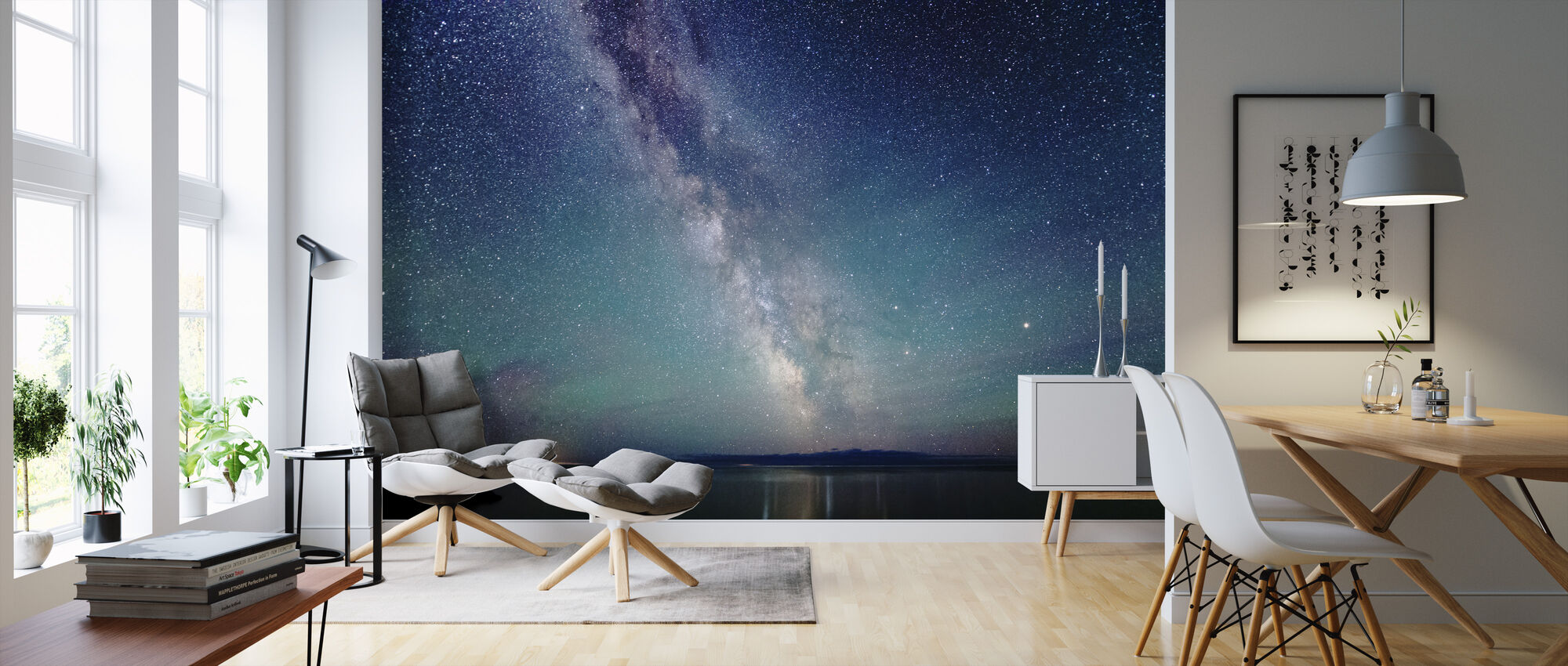 Milky Way Night Sky - Wallpaper - Living Room