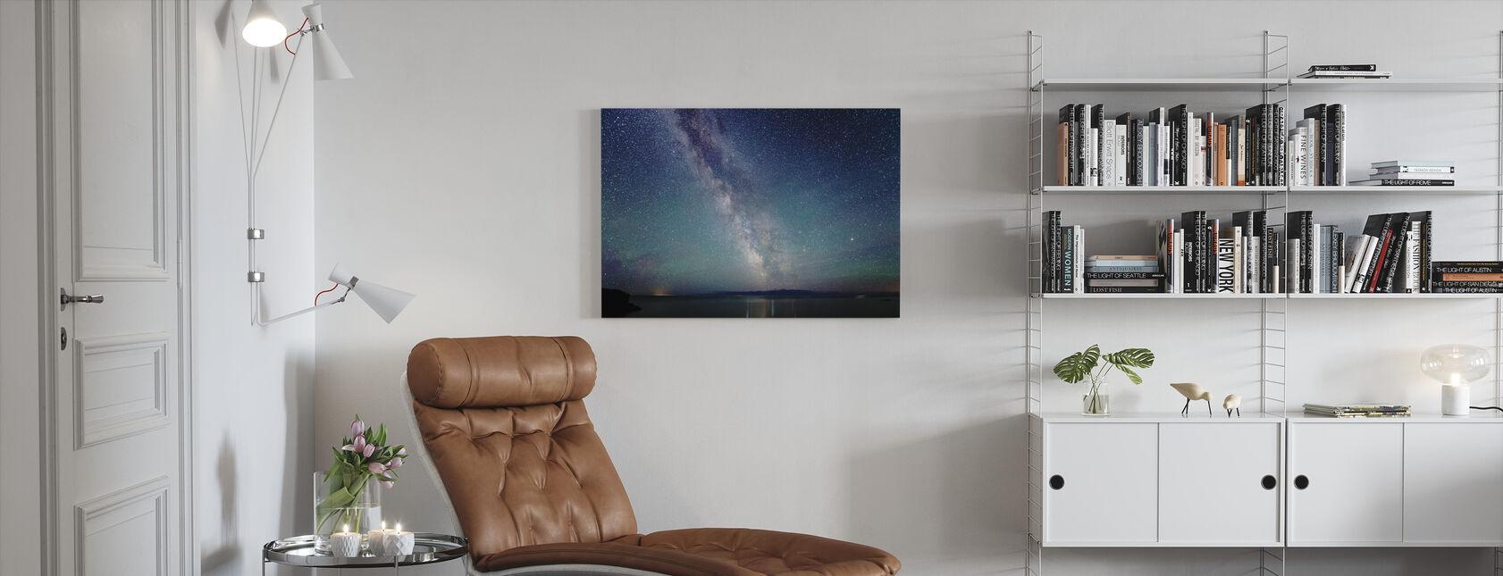 Milchstraße Nachthimmel - Leinwandbild - Wohnzimmer