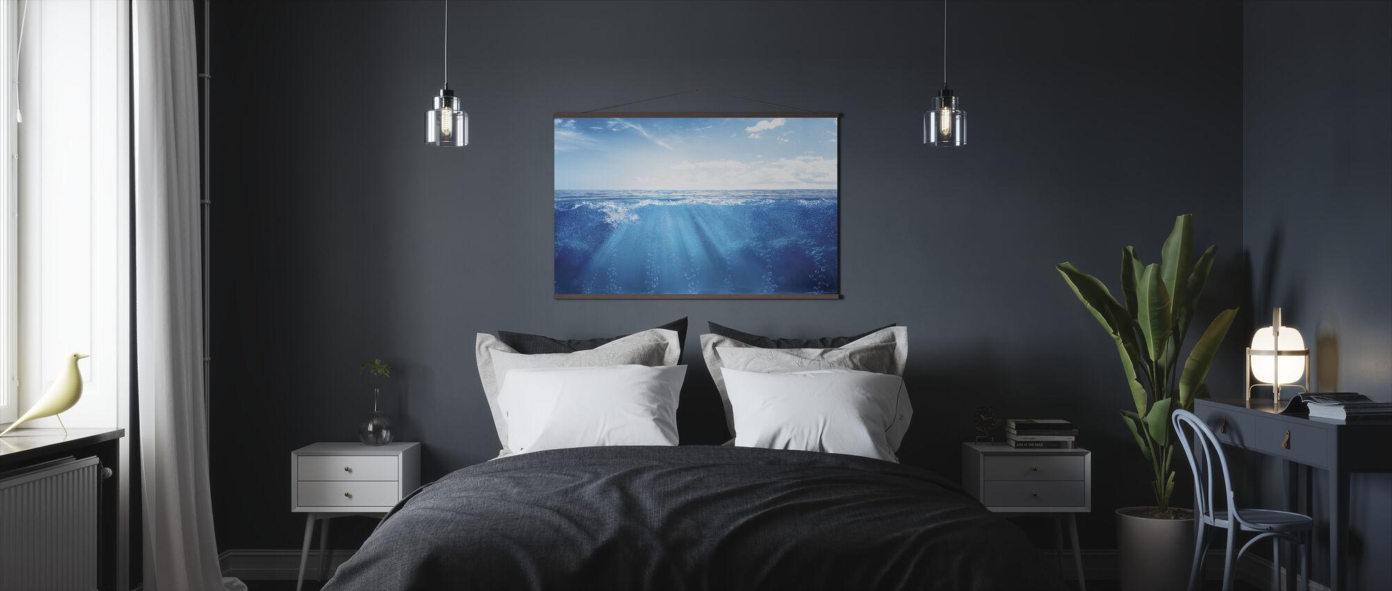 Blauw Onderwater - Poster - Slaapkamer
