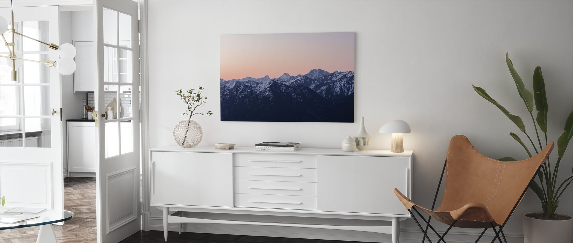 Bavarian Alps - Canvas print - Living Room