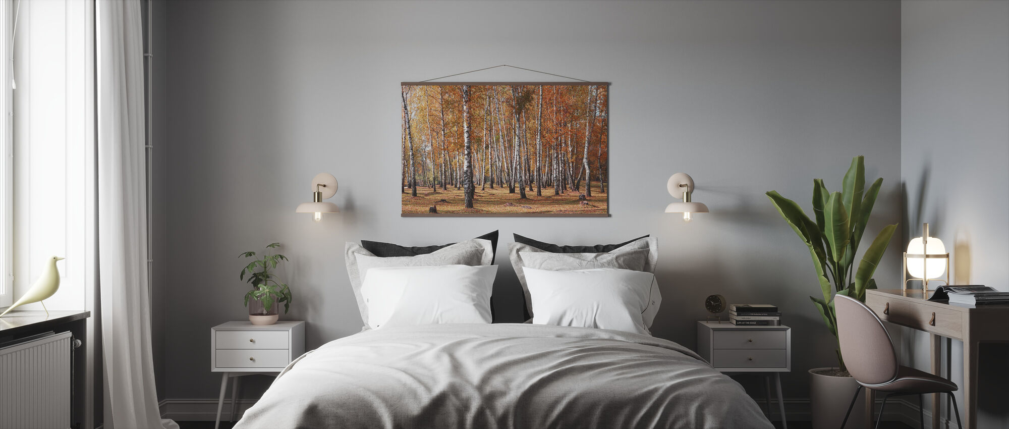 White Birches Trees - Poster - Bedroom