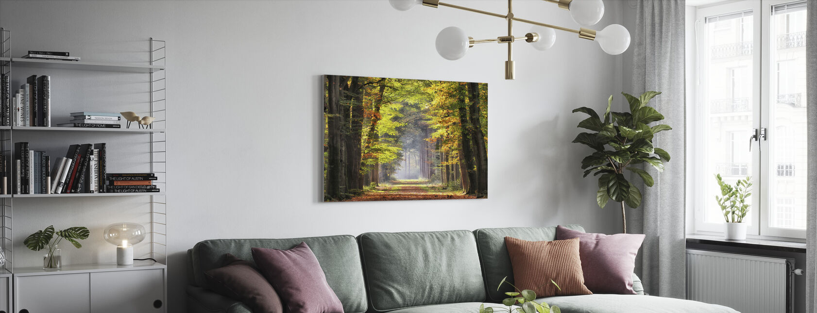Avenue of Beech Trees - Canvas print - Living Room