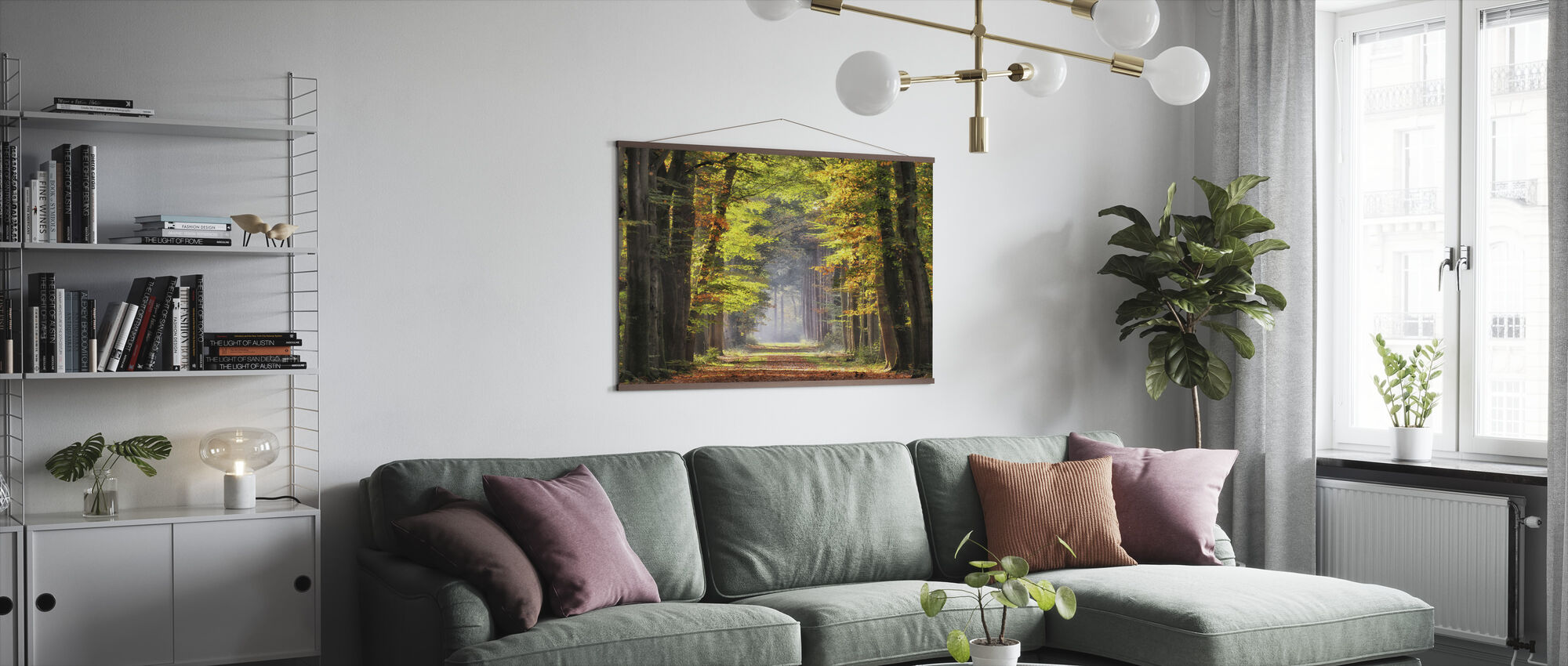 Avenue of Beech Trees - Poster - Living Room