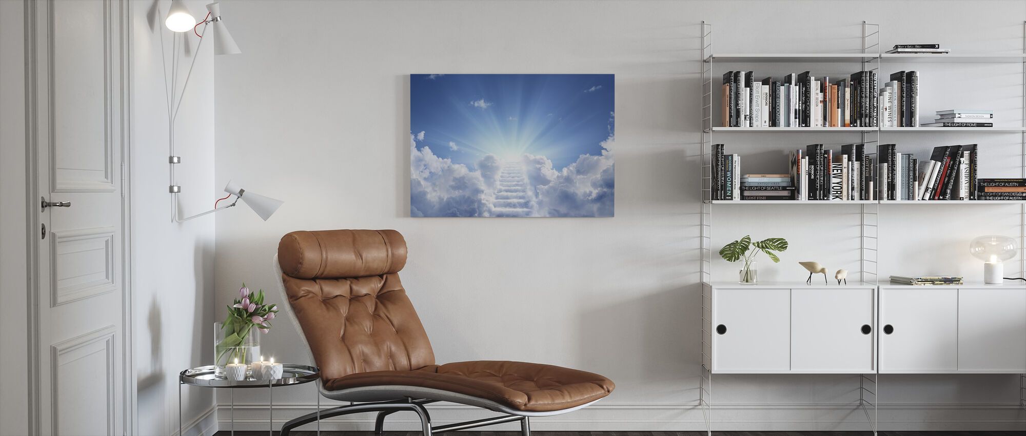 Cloudy Stairs - Canvas print - Living Room