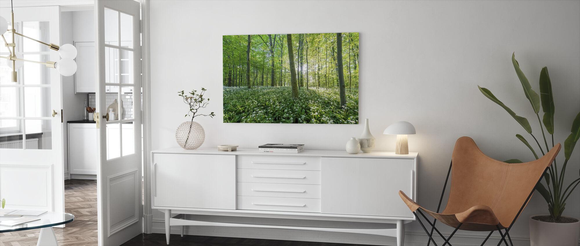 I bokskogen - Canvastavla - Vardagsrum