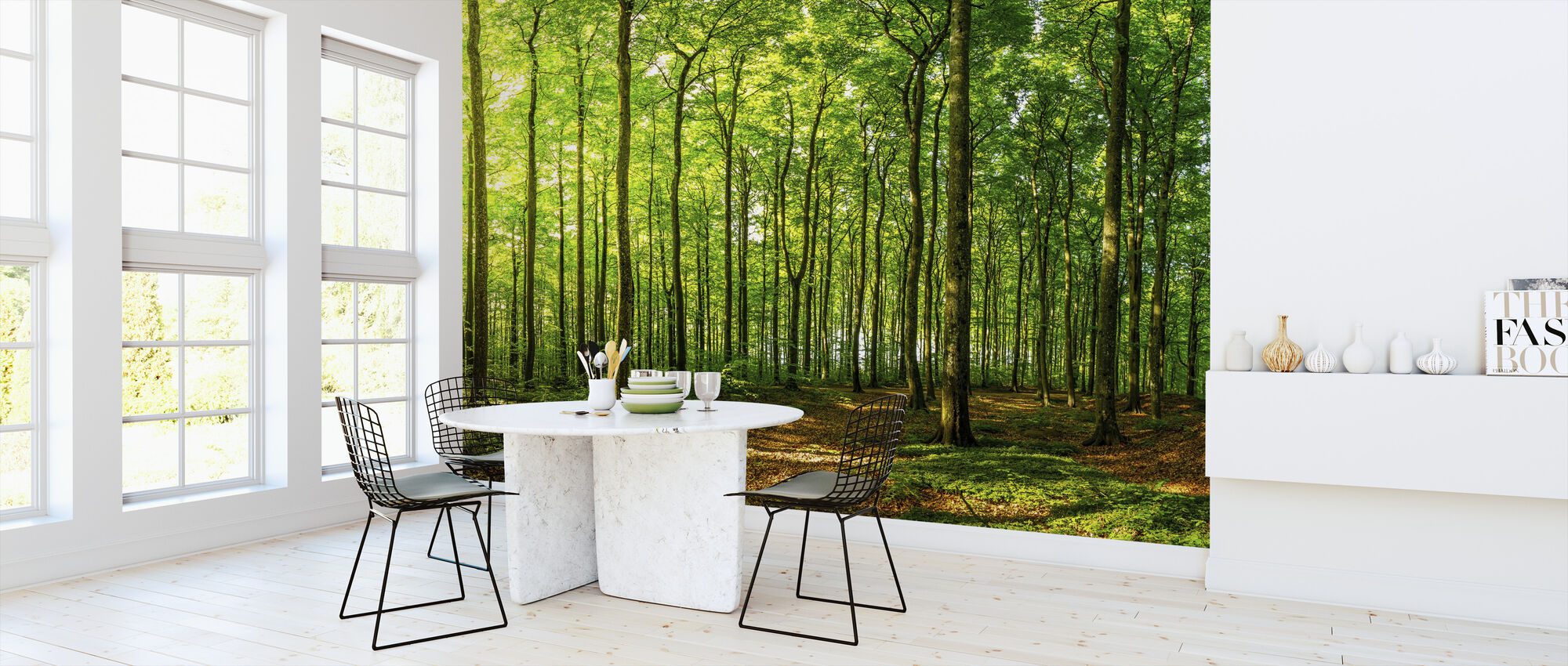 Green Beech Forest - Wallpaper - Kitchen