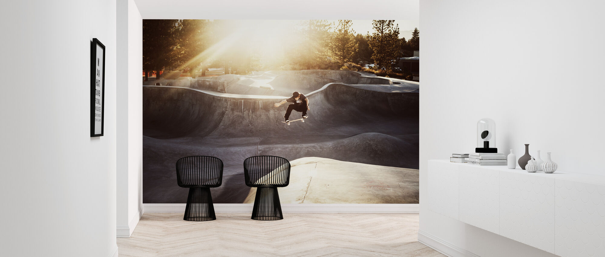 Skateboard Park - Behang - Gang