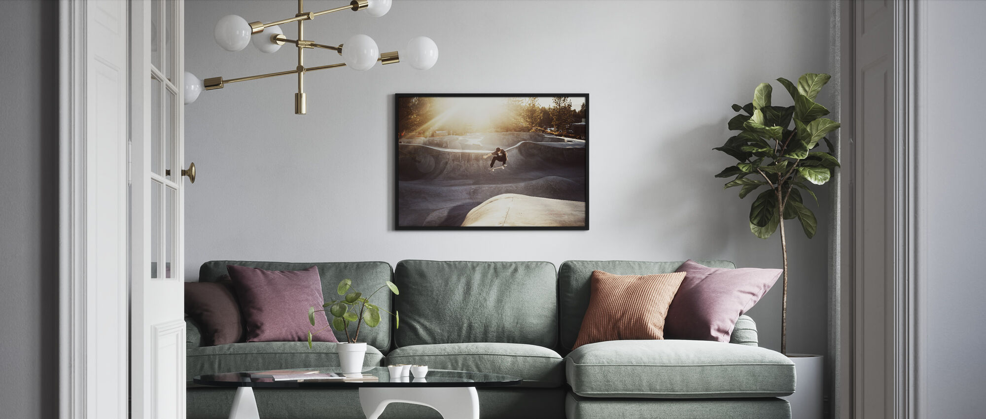 Skateboard Park - Framed print - Living Room