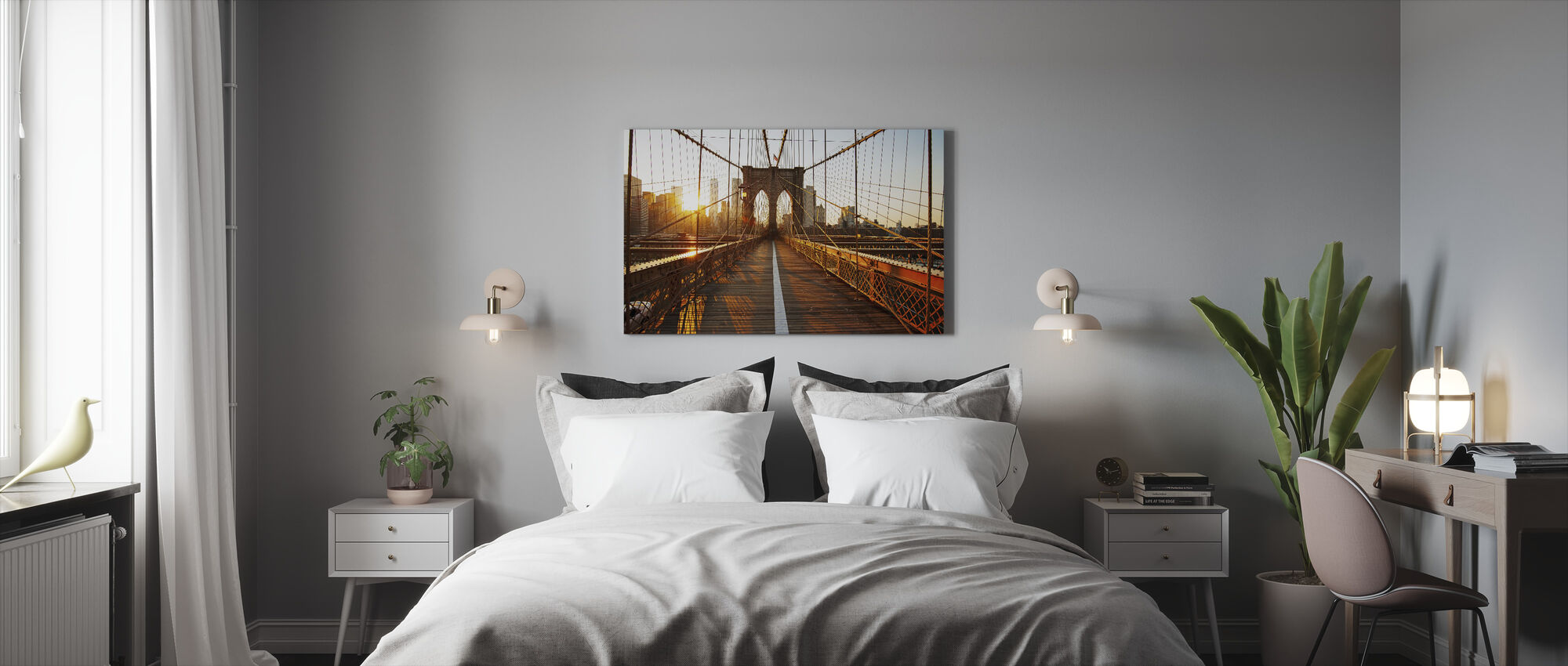 Brooklyn Bridge - Canvas print - Slaapkamer