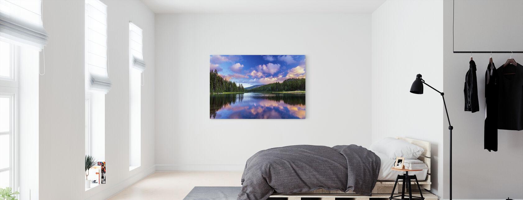 Todd järven mutka - Canvastaulu - Makuuhuone
