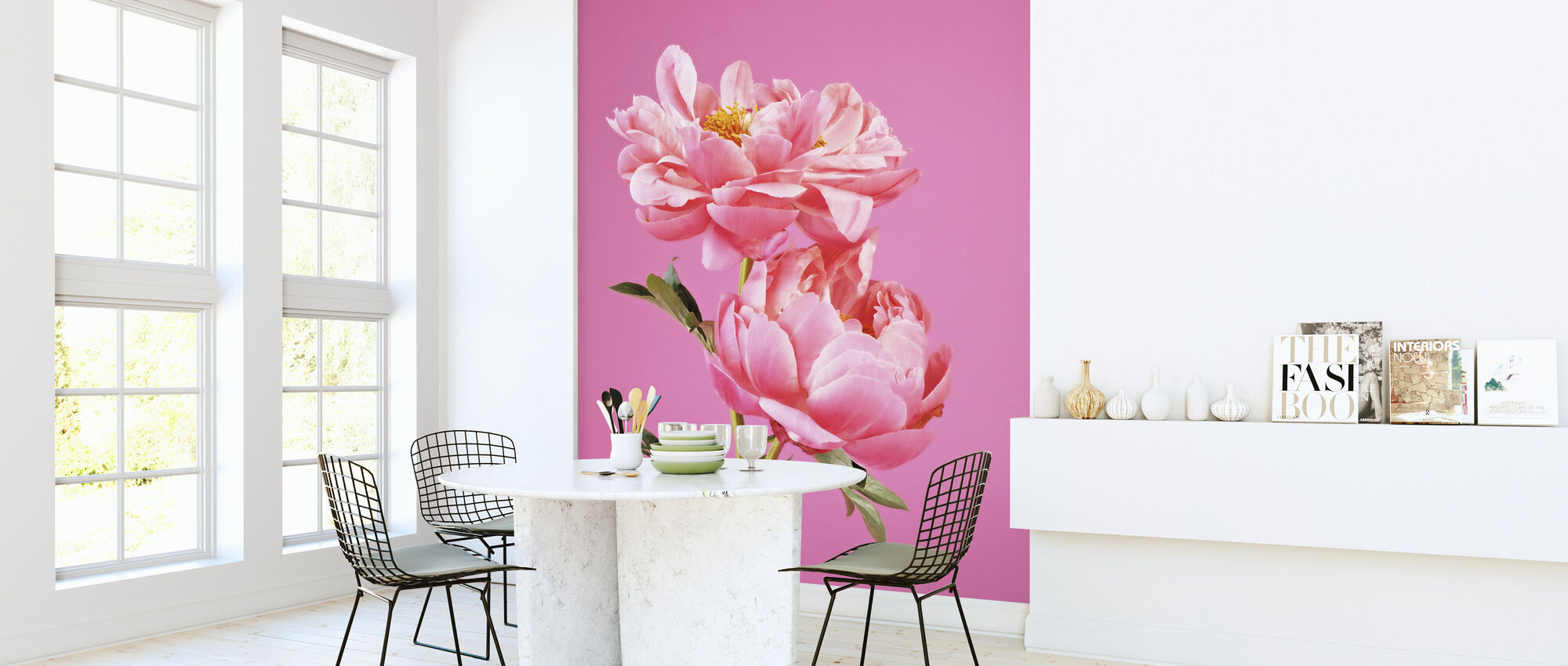 Pink Peonies - Wallpaper - Kitchen