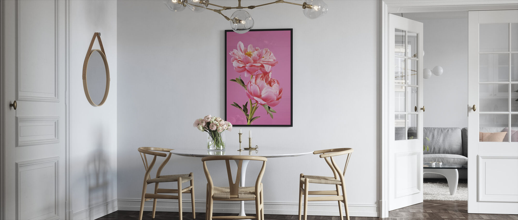 Pink Peonies - Framed print - Kitchen