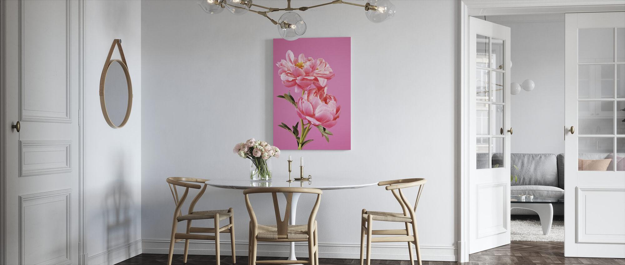 Pink Peonies - Canvas print - Kitchen