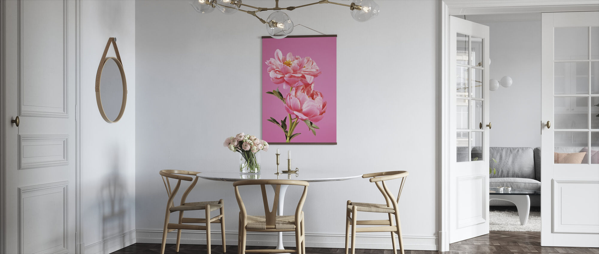 Pink Peonies - Poster - Kitchen