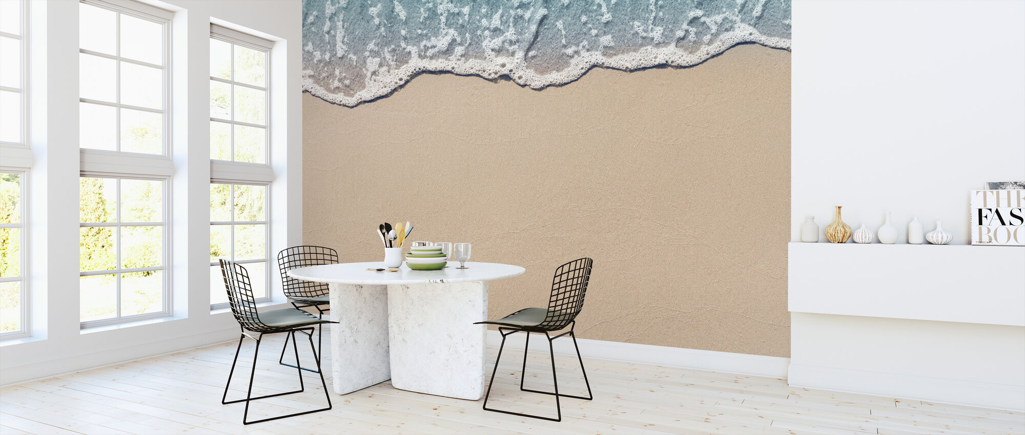 Wave on Sandy Beach - Wallpaper - Kitchen