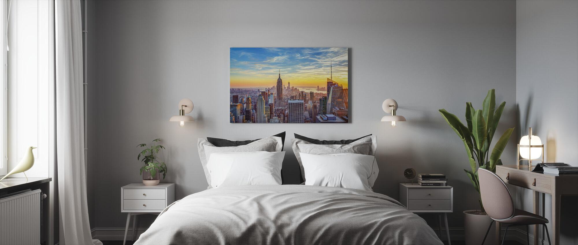 Ilmakuva kaupunkiin - Canvastaulu - Makuuhuone