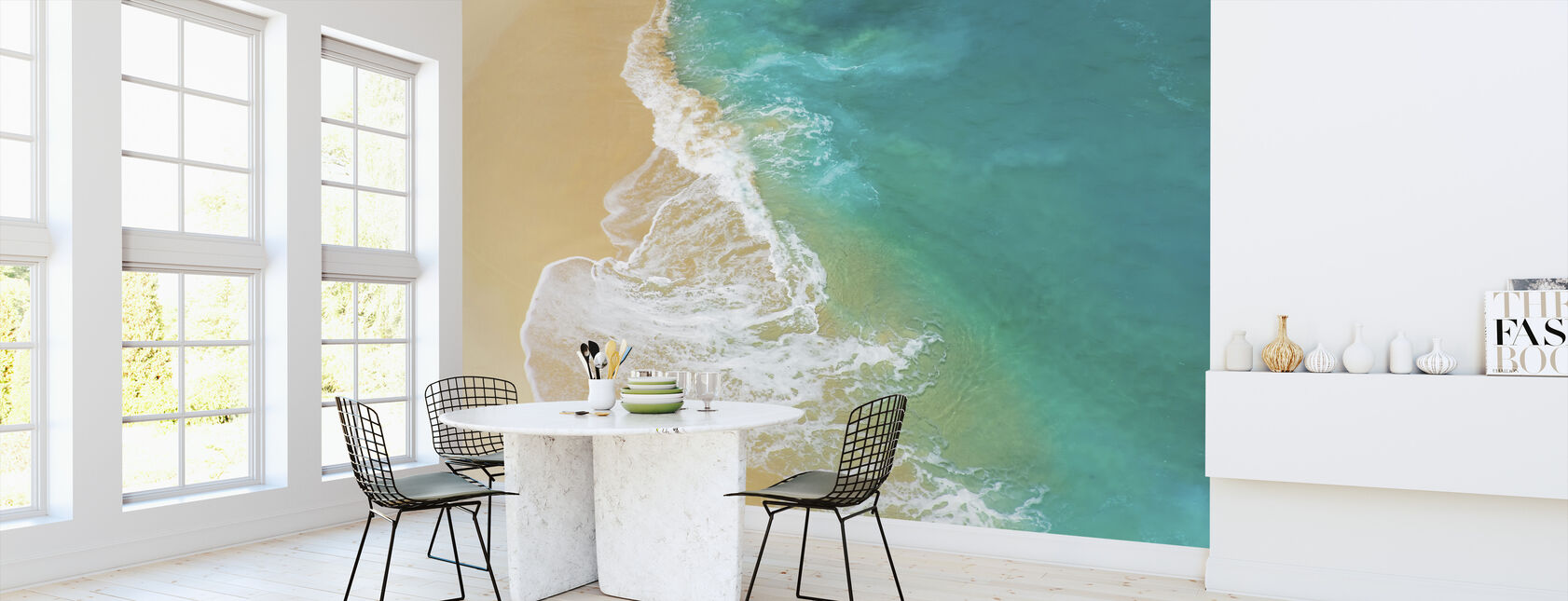 Sandy Beach Wave - Wallpaper - Kitchen