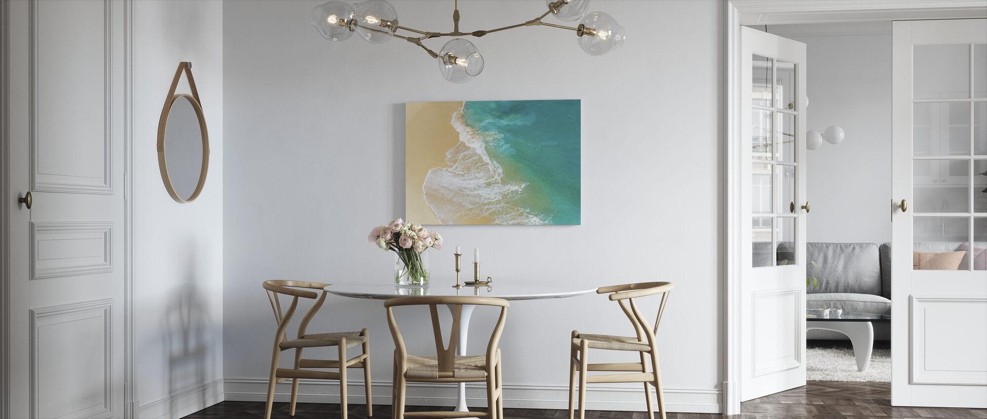 Sandy Beach Wave - Canvas print - Kitchen