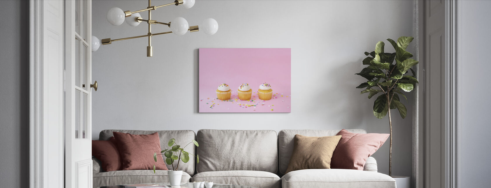 Frosted Cupcakes - Canvas print - Living Room