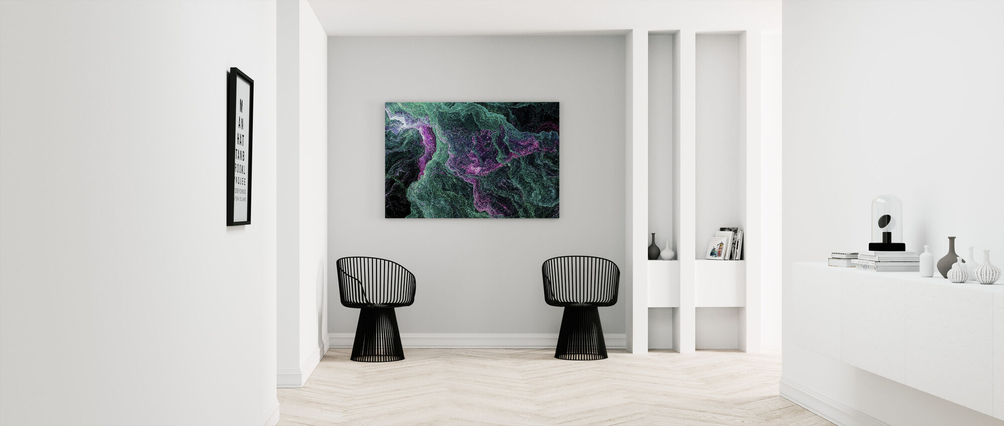Abstract Marbled Background - Canvas print - Hallway
