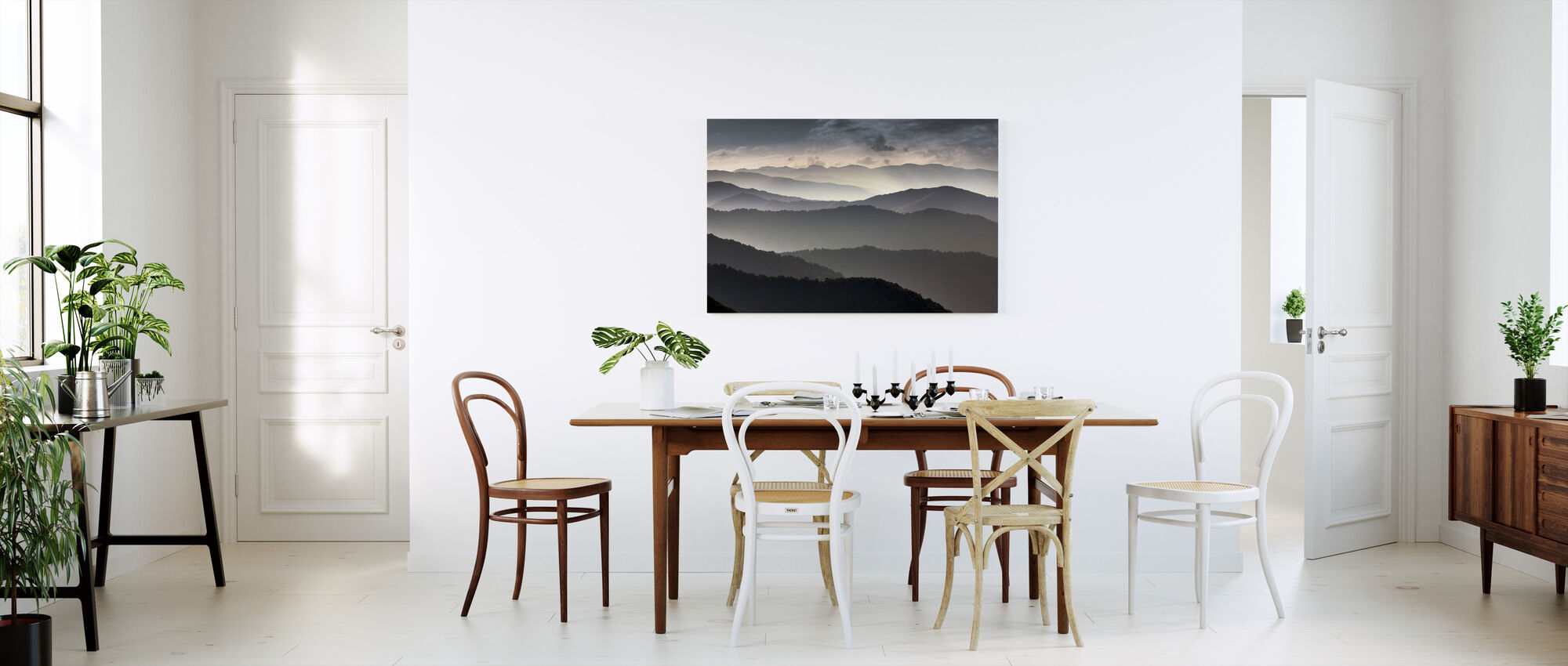 Mountains at Dusk - Canvas print - Kitchen