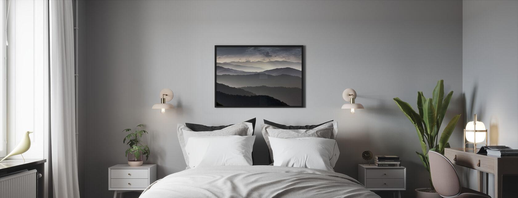 Mountains at Dusk - Framed print - Bedroom
