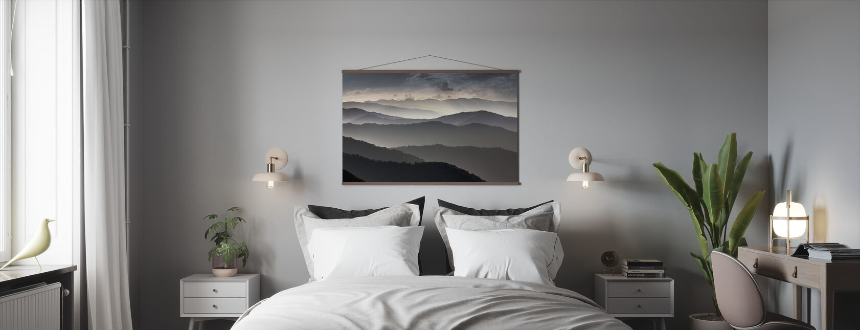 Mountains at Dusk - Poster - Bedroom