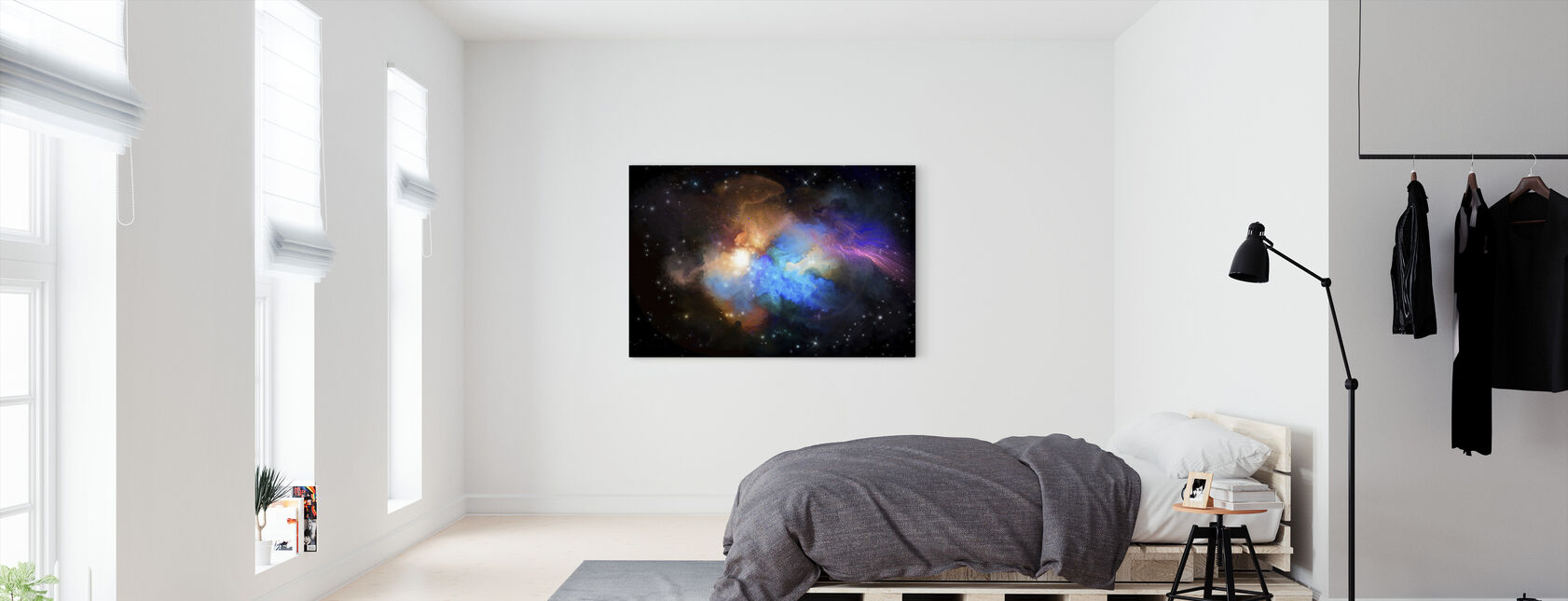 Multicolored Nebula - Canvas print - Bedroom