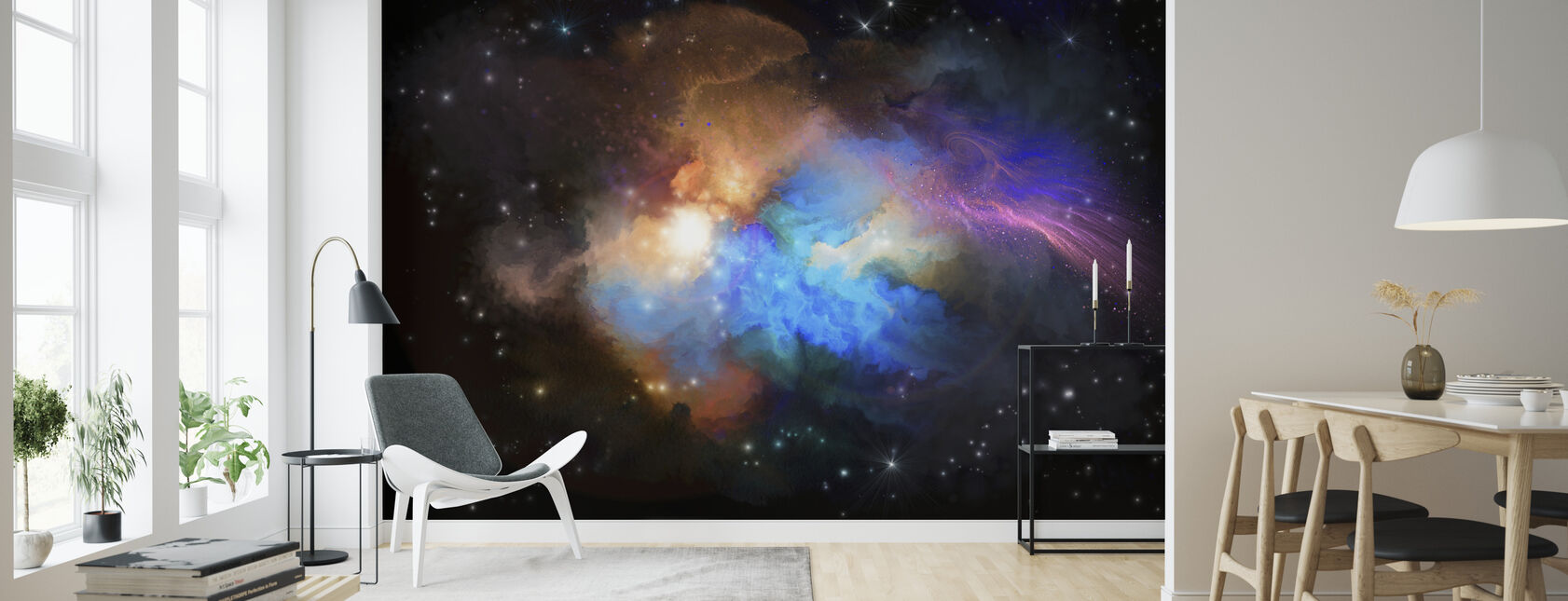 Multicolored Nebula - Wallpaper - Living Room
