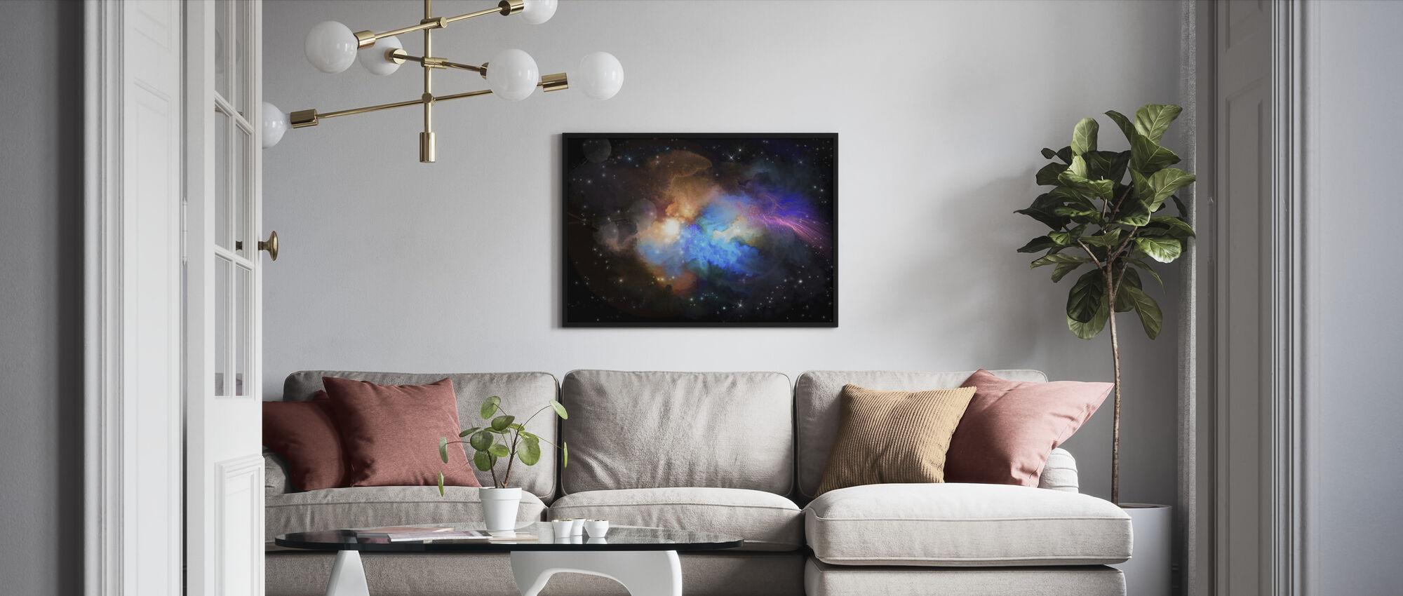 Multicolored Nebula - Framed print - Living Room