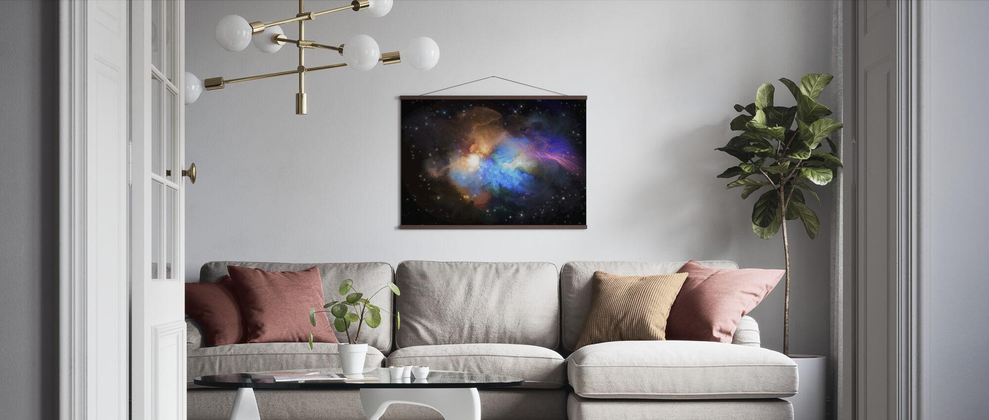 Multicolored Nebula - Poster - Living Room