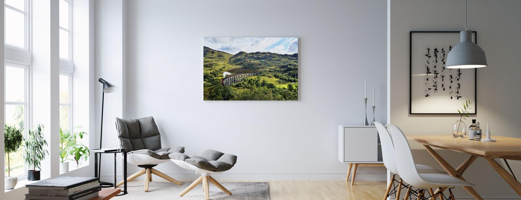 Tog på Skotland Highlands - Billede på lærred - Stue
