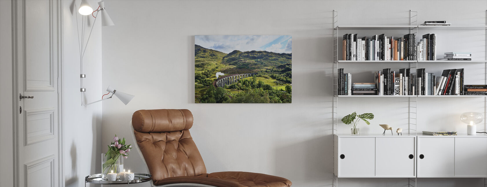 Train at Scotland Highlands - Canvas print - Living Room