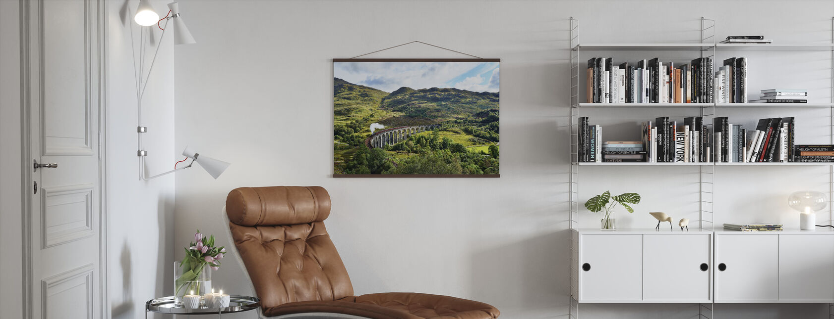 Train at Scotland Highlands - Poster - Living Room