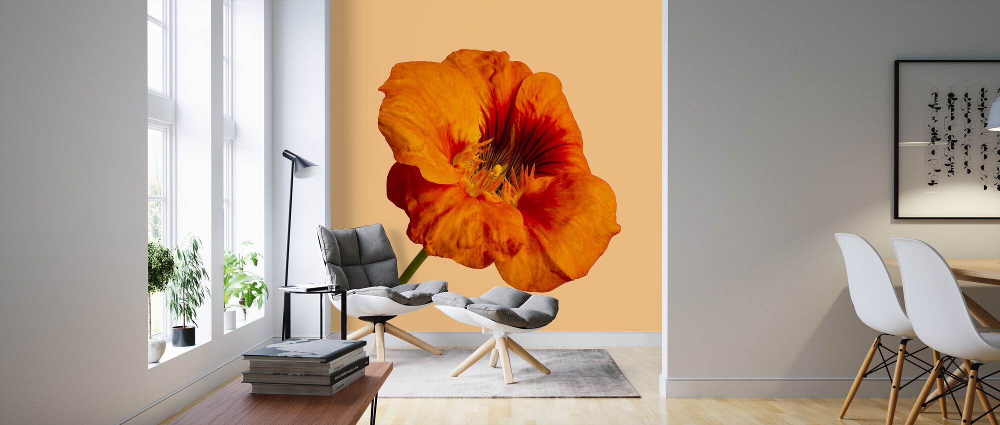 Blooming Hibiscus - Wallpaper - Living Room