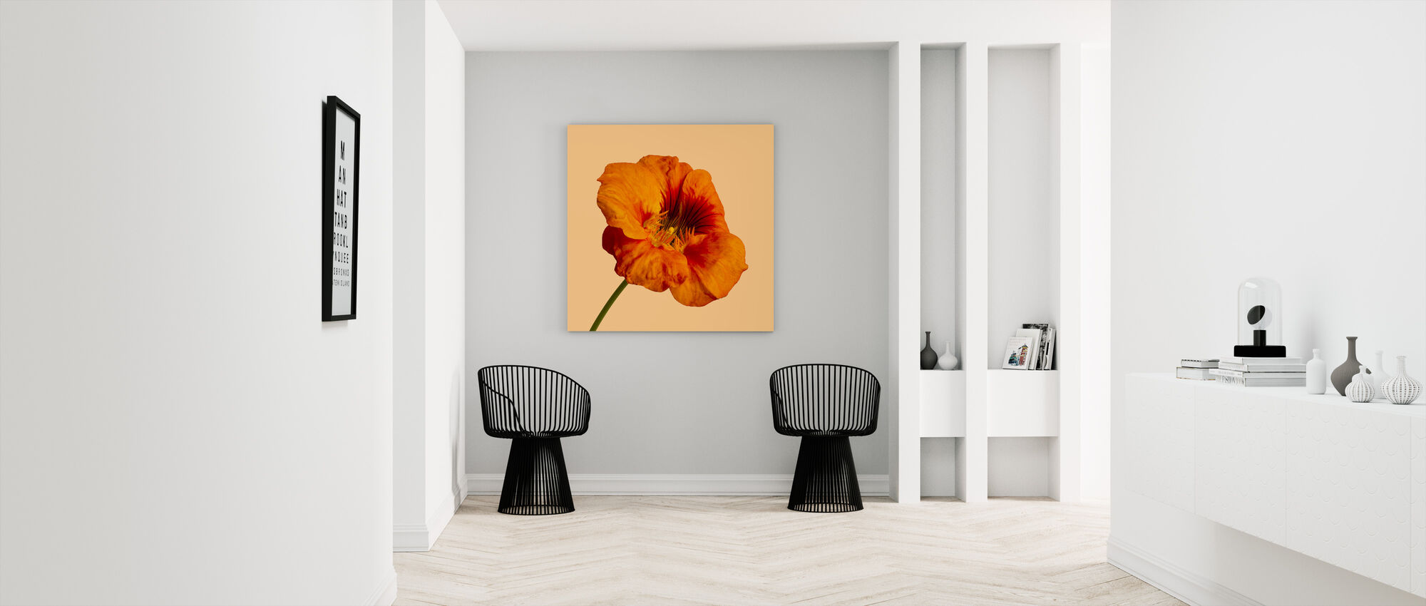 Blooming Hibiscus - Canvas print - Hallway