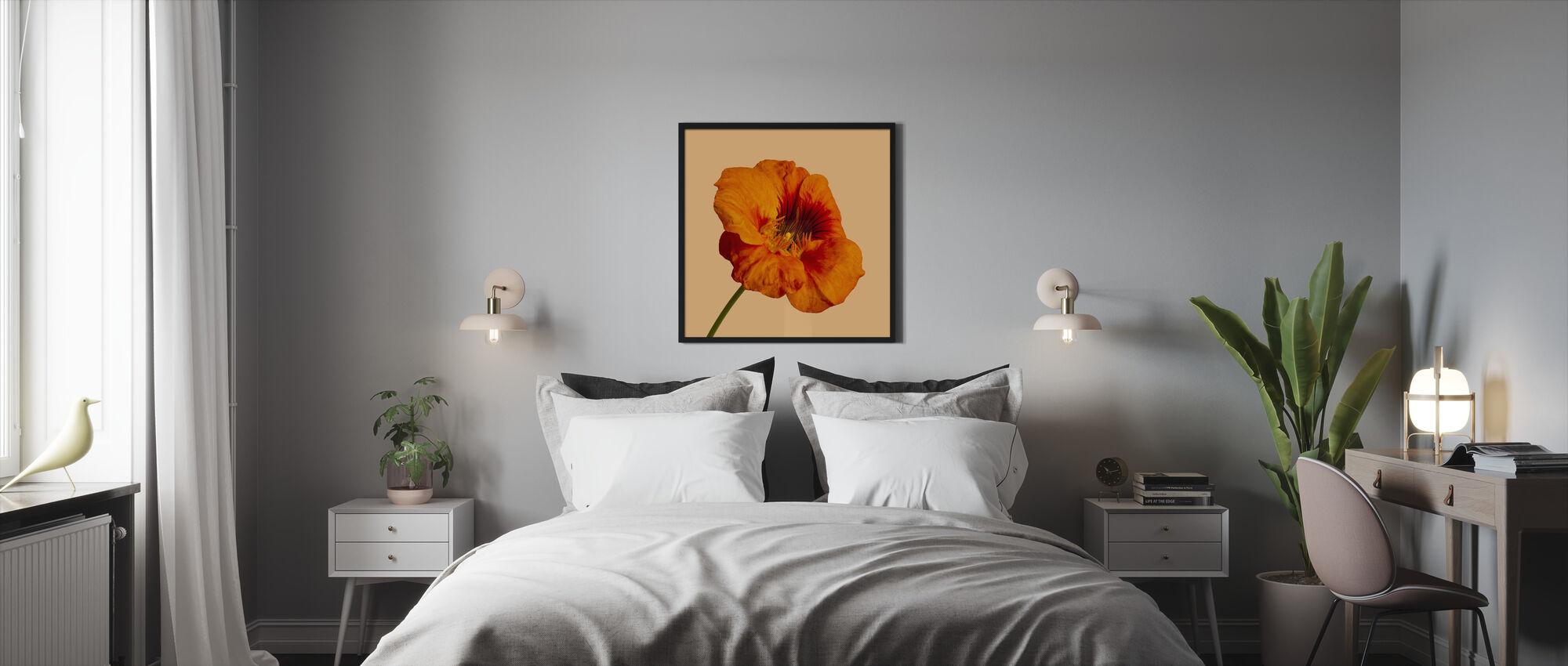 Blommande Hibiskus - Inramad tavla - Sovrum