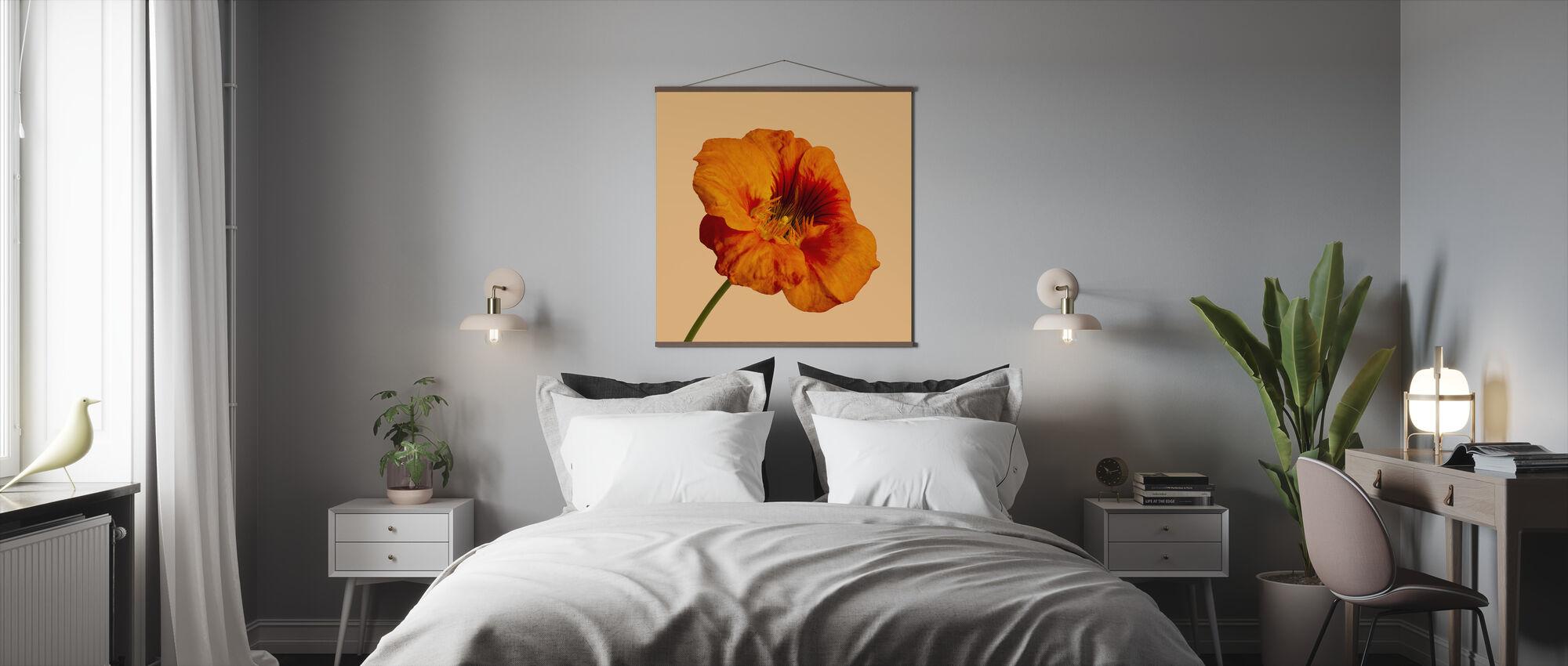 Kukinta Hibiscus - Juliste - Makuuhuone